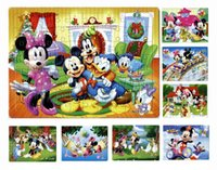 Wholesale 40pcs pack Mickey Mouse Puzzles Style For Choice Minnie Mouse Characters Pattern Children Education Games Toys For Kids Gift H0578