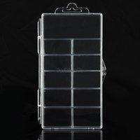 Wholesale Nail tools Nail tools EQ5049 Clear Empty Nail Art Tips Rhinestone Storage Case Box