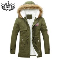 Wholesale Big Size S XL Winter Russian Mens Fur Coat Army Green Outwear Coats Military Man Jacket Hombre Winter Jacket Men Parkas Coats