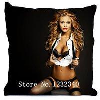 angelina jolie style - Angelina Jolie Style throw Pillowcase Custom18x18 Inch Twin Sides Home Car Cushion Cover