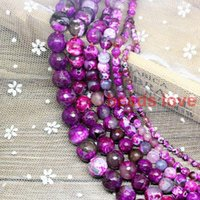 Wholesale Pick Size mm Faceted Fuchsia Fire Natural Agate Round Beads quot W03331