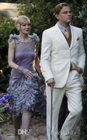 Wholesale Custom made Great gatsby movie suit wedding suits for men grooms suit Bespoke mens suit Jacket Pants