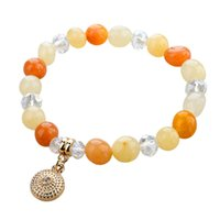 Wholesale Fashion Pure Natural Stone Bracelet Tiger eye Crystal Opal Shamballa Charm Cpw Bracelets Bangles For women