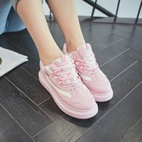 Wholesale The new heavy bottomed female wild fashion sneakers casual shoes women flat shoes running shoes casual shoes Walking Shoes
