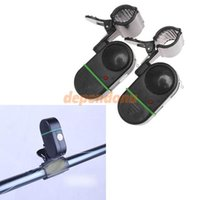 Wholesale 2PCS Automatic Electronic Fishing Rod Alarm Light Bite Fish Bell Waterproof