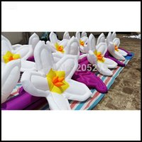 Wholesale m length inflatable flower chain purple and white color for wedding decoration