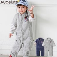 baby works clothing - Infant Cotton Romper Winter Hot Fashion Work Clothes Newborn One piece Clothes Baby Kids Clothes Fit Age T1501