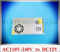 Wholesale 300W A LED transformer LED switching power supply input AC110V AC120V AC220V AC240V output DC12V W A ROHS CE