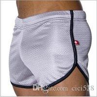 ac underwear - 2 Pecs Men s AC underwear low waist mesh breathable men track pants sports fitslim gym underpants factory direct sales