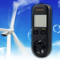 Wholesale 1pcs WindSpeed meter Digital LCD display Wind Speed Measurement Gauge test Sport Anemometer