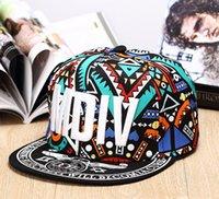Wholesale Hip hop letter HIPHOP baseball cap all match flat hat pattern along the hip hop trendsetter