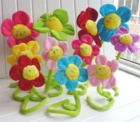 Wholesale loveybeauty New idea Cute Colorful Smile Sunflower Plush Curtain Clasps Tie Holders Home Decoration Assurance HG
