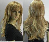 beautiful wigs - Beautiful Fashion blonde mix medium long Lady s wig wigs