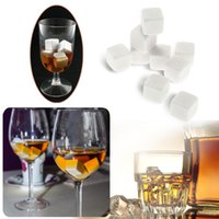 Wholesale 9pcs mm Whisky Ice Stones Drinks Cooler Cubes Beer Rocks Granite with Pouch H16756