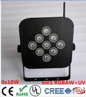 american dj uv - New Arrival W in1 RGBAW UV Battery Wireless LED Flat Par Light LED Slim Par Can American DJ Light For Christimas