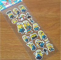 Wholesale 3D Cartoon Sticker Minions Despicable me Wall Stickers Frozen New Christmas Father Big Hero little Pony paster Kindergarten Reward