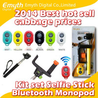 best phone packages - Best price Bluetooth Remote Shutter L style Phone Clip Monopod For iPhone IOS Galaxy Android in kit set selfie stick with retail package