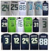 Wholesale Elite Seahawks Jerseys Marshawn Lynch Richard Sherman Tyler Lockett Earl Thomas Jimmy Graham Russell Wilsons Mix Order