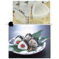 Wholesale 2x Triangle Form Sushi Mold Onigiri Rice Ball Bento Press Maker Mold DIY Tool PY order lt no track