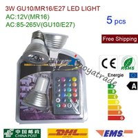 atmosphere change - 5pcs Blister packaging W GU10 E27 MR16 RGB LED Light Bulbs Color RGB Change V with Remote for home party decoration atmosphere