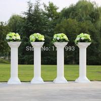 Wholesale pc Fashion Wedding Props Decorative Roman Columns White Color Plastic Pillars Road Cited Party Event RC001