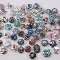 Wholesale hot sell fashion jewelry Mixed color Environmental protection alloy noosa chunks mm of bracelet bag necklace