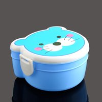 bento box cute - Cute Cartoon Plastic Lunch Meal Bento Two Double Layer Kid Box Case Microwaveable tinyaa