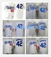 Unisex robinson - 2016 New LA Dodgers Jackie Robinson Jersey Throwback MN Baseball Shirt