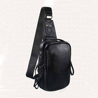 Wholesale 1 Piece Luxury Men s Chest Bag Fashion Accessories Latest Simple High Quality Leather Pure Color Casual Shoulder Bag Travel Bag