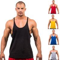 Cheap Wholesale-Men Fitness Boxing Jerseys,Gym Singlets Mens Tank Tops Shirt,Bodybuilding Equipment Men's Golds Gym Stringer Sports Clothes