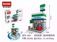 auction stores - HSANHE MINI Blocks Street micro Store Blocks D DIY Small Shop Building Bricks Juguetes Mini Auction Figures Kids Gift D DIY Sm