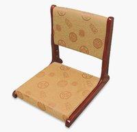 wood antique walnut flooring - Tatami Floor Chair Folding Legs Walnut Finish Seat Cushion Pad Japan Furniture Living Room Japanese Zaisu Legless Chair Design