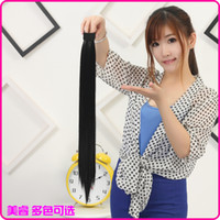 Wholesale US Core ponytail wig new wig with long straight hair ponytail pat circle ponytail can multicolor