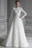 beautiful inspiration - 2015 Spring Beautiful Lace Wedding Dress With Long Sleeve Floor Length Elie Saab Inspirations Wedding Gowns For Bride