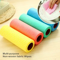 Wholesale 50 set Non woven fabric Cleaning clothes Heavy duty wipes Reusable dish cloth Scouring pad Kitchen tools households