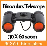 Wholesale High quality X60 Zoom Mini Binoculars Telescope Folding Day Night Vision with Carry Bag with Retail Box