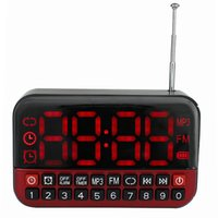 alarm clock radio battery - Super Digital Screen FM Radio MP3 Player USB Speaker Clock Alarm With Battery Y4172