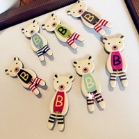 amber bear - Fashion Korean Bear BB Hair Clips Cute Bear Baby Hair Clips Women Party Hair Accessories Hair Jewelry