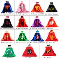 batman christmas stocking - 70 CM Double Side kids Superhero Cape Superman Batman Ninja Turtles Spiderman Captain America Supergirl kids capes with mask in stock