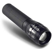 Wholesale Mini LED Flashlight W Q5 Strong Lumens Lanterna Torch light Zoomable lantern penlight bike Waterproof Portable flashlight