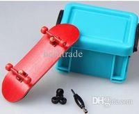 alloy tech wheels - Professional Maple Wooden Deck Alloy Trucks Finger Skateboards Bearing Wheels Tech Finger board With Bag FBS03