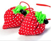 strawberry folding shopping bag - New Eco Storage Handbag Reusable Strawberry Foldable Shopping Bags Foldable Eco Storage Handbag Nylon Beautiful Reusable Bag