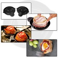 bacon baking - Two Pieces Perfect Bake Bacon Bowl Baking Compact Space saving Dishwasher Safe Kitchen Tools
