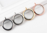 Wholesale Colors MM Round Plain Magnetic Glass Living Floating Charms Locket Pendant For Chain Necklace