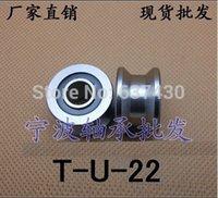 Wholesale 10pcs high quality TU22 mm T groove roller wheel ball bearing mm V U groove pulley bearings ABEC