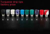 Wholesale Factory_World New Stainless Steel Stone Turquoise drip tip jade jewelry drip tips colorful
