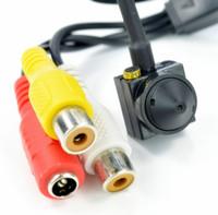 Wholesale surveillance cameras Cone Hidden mm MP TVL Camera Audio Wired Camera Mini CCTV Security Surveilance Hidden pinhole Camera