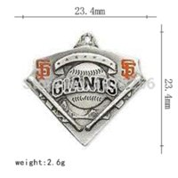 antiques san francisco - 50pcs zinc alloy antique silver plated san francisco giants single side jewelry making charms Charms Cheap Charms
