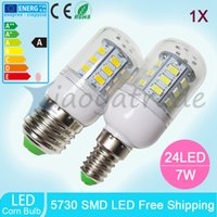 Wholesale LED Light E27 E14 B22 GU10 Corn ligth LED Bulbs W SMD With Cover leds Led lights Corn Lighting