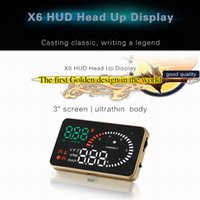 Wholesale NEW Arrival Inch Multifunctional Colorful X6 Car HUD Head Up Display Vehicle mounted Alarm Security System with OBD2 Interface